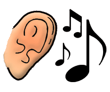 ear and music note