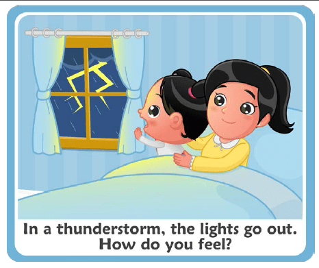 mom and daughter during a storm